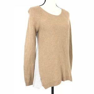 ANN TAYLOR LOFT Cable Knit Merino Wool Sweater